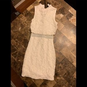 Ivory colored dress. Charlotte Russe